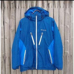 Columbia zip front hooded thermal coat - Mens M